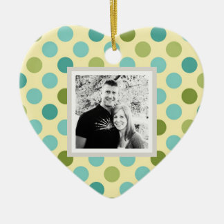 """Customizable """"Our First Christmas"""" Dots Ornament"""