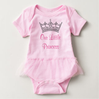Customizable Our Little Princess Baby Girl Tutu Baby Bodysuit