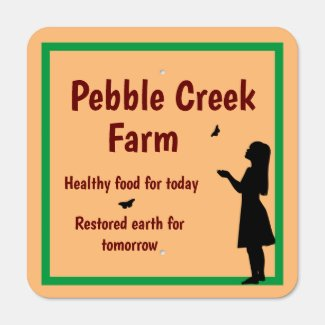 Customizable Outdoor Sign for Sustainable Farm