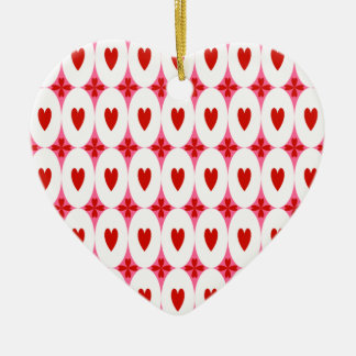 Customizable Oval Hearts Christmas Tree Ornament