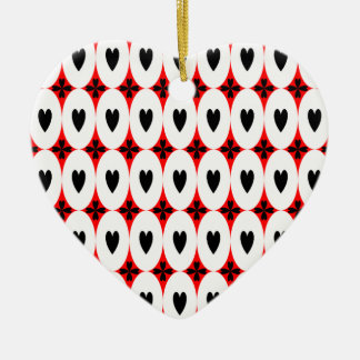 Customizable Oval Hearts Christmas Ornament