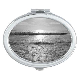 Customizable Oval Photo Compact Mirror