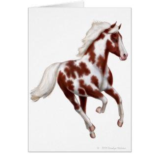 Customizable Overo Paint Horse Card