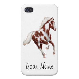 Customizable Overo Paint Horse Case For iPhone 4