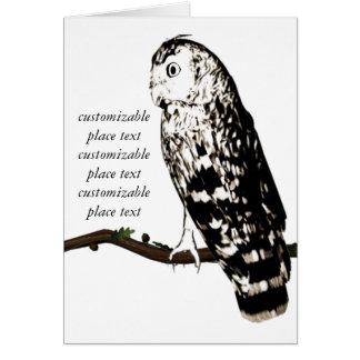 customizable owl card