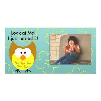 Customizable Owl Photo Card