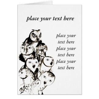 customizable owls card