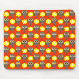 Customizable Owls & Daisies Mouse Pad