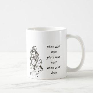 Customizable owls mug