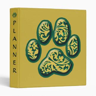 Customizable Paisley Puppy Print Binder