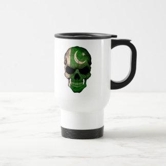 Customizable Pakistani Flag Skull Travel Mug