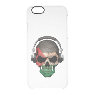 Customizable Palestinian Dj Skull with Headphones Uncommon Clearly™ Deflector iPhone 6 Case