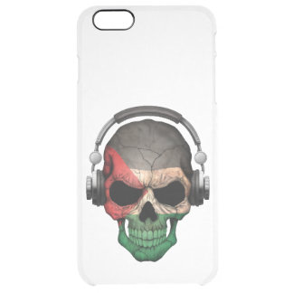 Customizable Palestinian Dj Skull with Headphones Uncommon Clearly™ Deflector iPhone 6 Plus Case