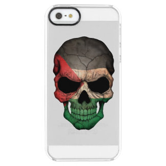 Customizable Palestinian Flag Skull Uncommon Clearly™ Deflector iPhone 5 Case