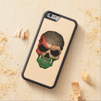 Customizable Palestinian Flag Skull Carved® Maple iPhone 6 Bumper