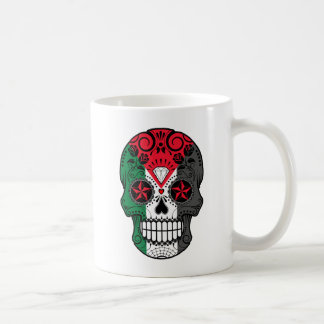 Customizable Palestinian Sugar Skull with Roses Mug