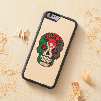 Customizable Palestinian Sugar Skull with Roses Carved® Maple iPhone 6 Bumper Case