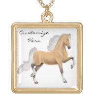 Customizable Palomino Walking Horse Necklace