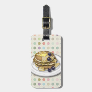 Customizable Pancakes With Syrup And Blueberries Bag Tag