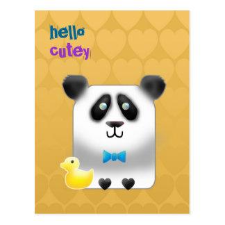 Customizable: Pandy Postcard
