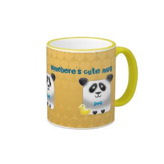 Customizable: Pandy Ringer Mug