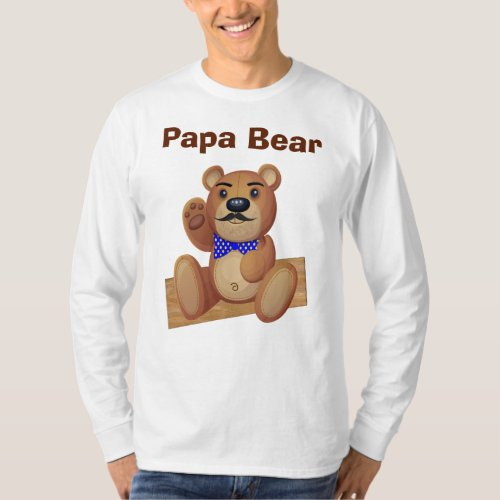 Customizable Papa Bear Shirt in Different Styles
