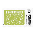 Customizable Papel Picado Flag - Green Stamp