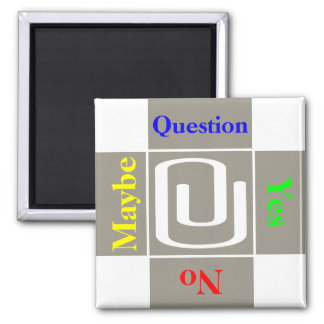 Customizable Paperclip Attachment Question Magnet