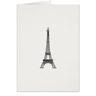Customizable_Paris_Eiffel Tower Stationery Note Card