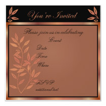 Customizable Party Invitation in Bronze Tones