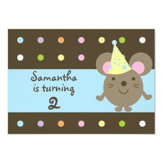 Customizable Party Mouse Birthday Party Invitatons Card