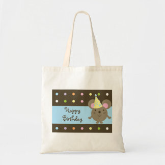 Customizable Party Mouse Happy Birthday Tote Bag