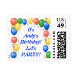 Customizable Party Postage Stamps