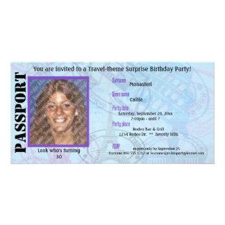 Customizable Passport Party Invitation