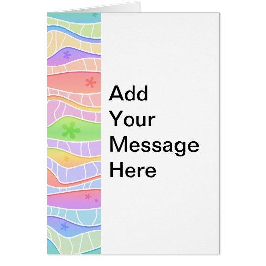 Customizable PASTEL RAINBOW GREETING CARD