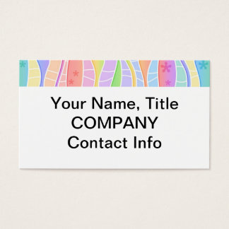 Customizable PASTEL RAINBOW STRIPES BUSINESS CARD