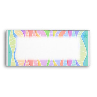 Customizable PASTEL RAINBOW STRIPES ENVELOPE