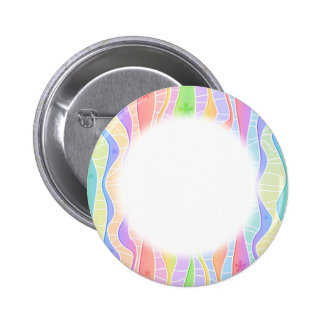 Customizable PASTEL RAINBOW STRIPES RD BUTTONS