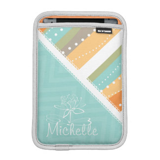 Customizable Pastel Stripes and Chevron iPad Mini Sleeve