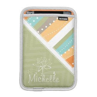 Customizable Pastel Stripes and Chevron iPad Mini Sleeve