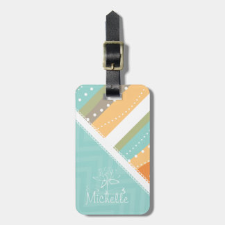 Customizable Pastel Stripes and Chevron Tags For Bags