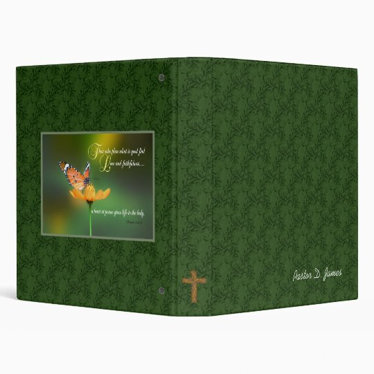 Customizable Pastors Notebook cover 3 Ring Binder