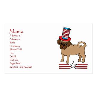 Customizable Patriotic Pug Business Cards