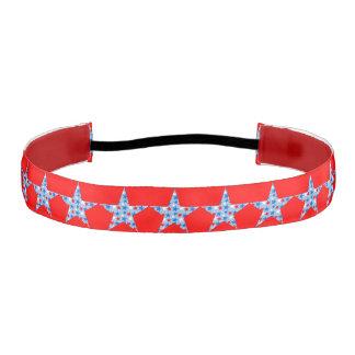 Customizable Patriotic Stars Athletic Headbands