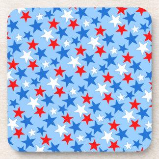 Customizable Patriotic Stars Beverage Coasters
