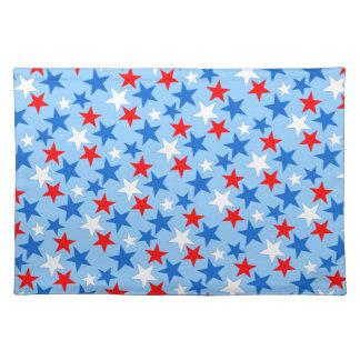 Customizable Patriotic Stars Cloth Place Mat