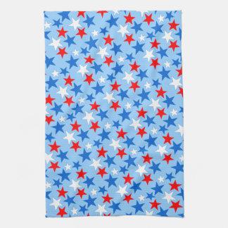 Customizable Patriotic Stars Towel