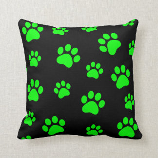 Customizable paw prints pillow