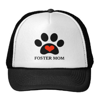 Customizable Pawprint Foster Mom Rescue Trucker Hat