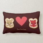Customizable PB & J Throw Pillows